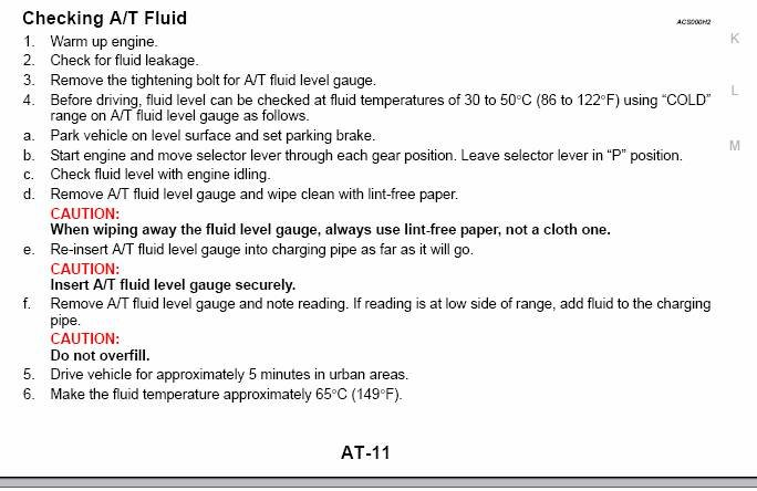 How To Check Automatic Transmission Fluid >> Auto Transmission Fluid Level Check Nissan 350z Forum