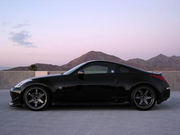 All Black Wheels On A Super Black Nissan 350z Forum