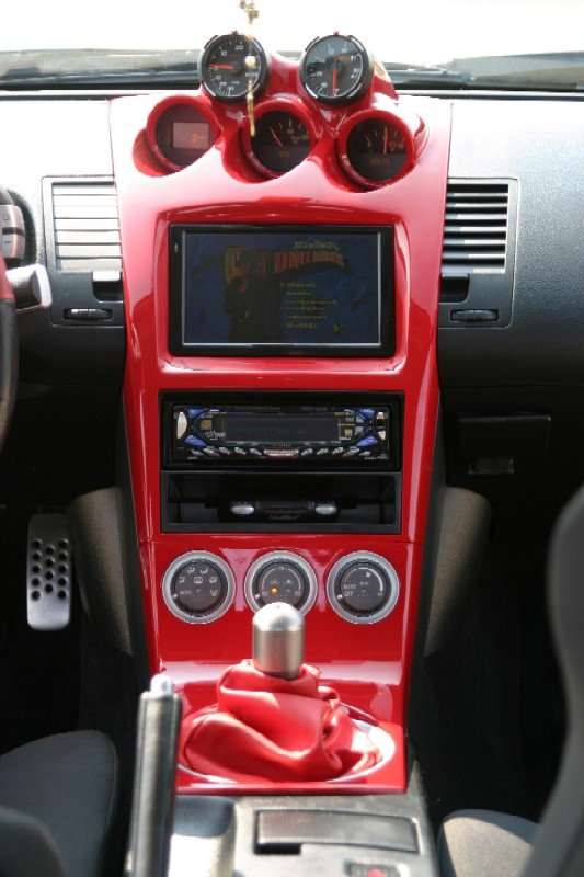 D Center Console Molded Painted Zconsole on Nissan Exhaust